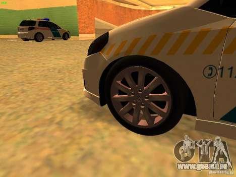 Suzuki SX-4 Hungary Police für GTA San Andreas rechten Ansicht