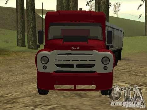 ZIL 130 tracteur pour GTA San Andreas laissé vue
