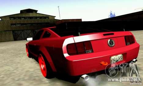 Shelby GT500 KR pour GTA San Andreas laissé vue