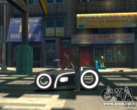 Motorrad des Throns (grau Neon) für GTA 4 linke Ansicht