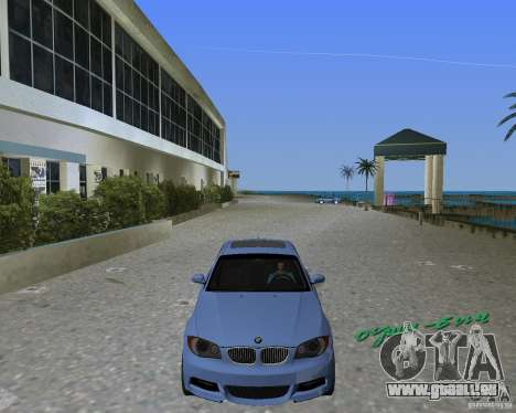 BMW 135i pour une vue GTA Vice City de la gauche