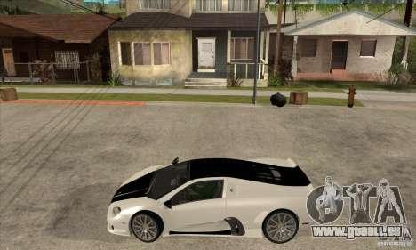 SSC Ultimate Aero FM3 version pour GTA San Andreas laissé vue