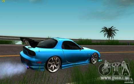 Mazda Rx7 C-West pour GTA San Andreas sur la vue arrière gauche