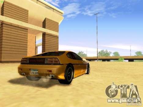 Pontiac Fiero V8 pour GTA San Andreas laissé vue