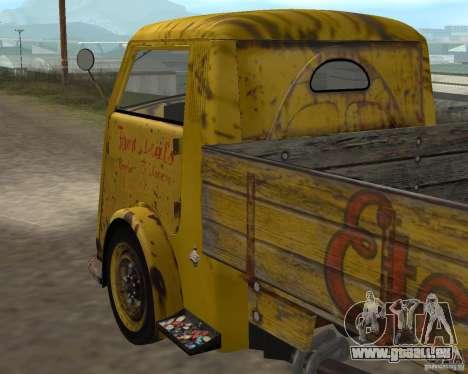 Tempo Matador 1952 Bus Barn version 1.1 pour GTA San Andreas vue intérieure