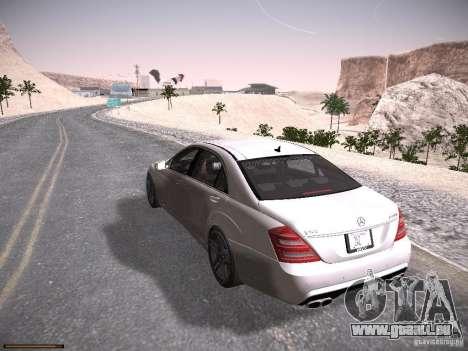 Mercedes Benz S65 AMG 2012 pour GTA San Andreas sur la vue arrière gauche