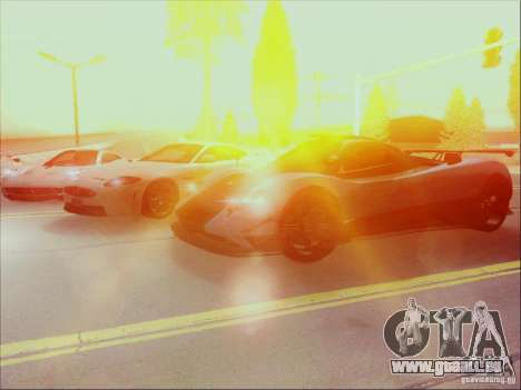 Pagani Zonda Cinque pour GTA San Andreas vue intérieure