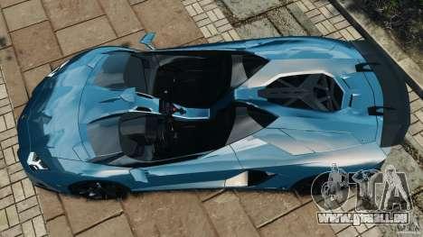 Lamborghini Aventador J 2012 v1.2 für GTA 4 rechte Ansicht