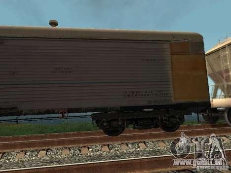 Refrežiratornyj wagon Dessau no 9 pour GTA San Andreas sur la vue arrière gauche