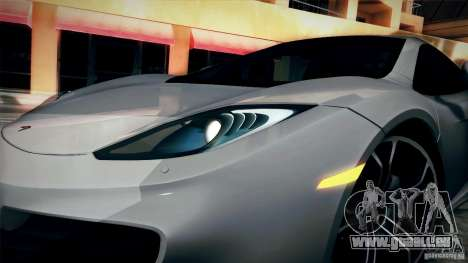 McLaren MP4-12C 2012 für GTA San Andreas rechten Ansicht