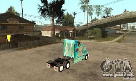 Peterbilt 387 peau 4 pour GTA San Andreas vue arrière