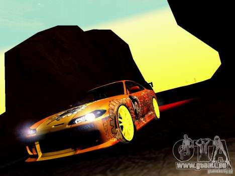 Nissan Silvia S15 Juiced2 HIN pour GTA San Andreas vue de côté