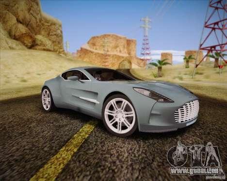 Aston Martin One-77 pour GTA San Andreas sur la vue arrière gauche
