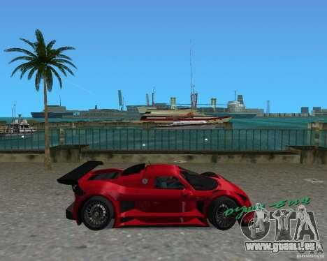 Gumpert Apollo Sport pour une vue GTA Vice City de la gauche