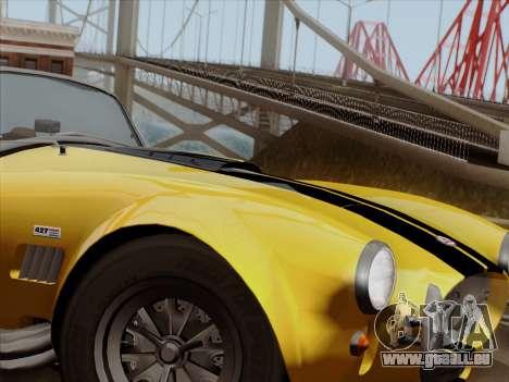Shelby Cobra 427 für GTA San Andreas Rückansicht