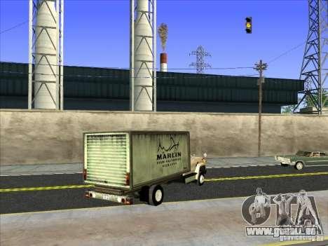 Yankee basé sur GMC pour GTA San Andreas sur la vue arrière gauche