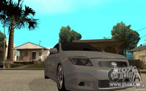 Scion tC - Stock für GTA San Andreas Rückansicht