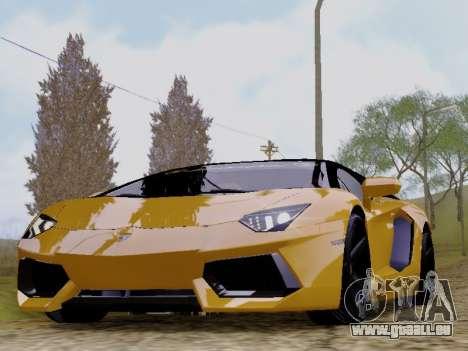 Lamborghini Aventador LP700-4 Vossen für GTA San Andreas zurück linke Ansicht