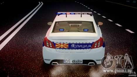 Peugeot 508 Macedonian Police [ELS] für GTA 4 Innen