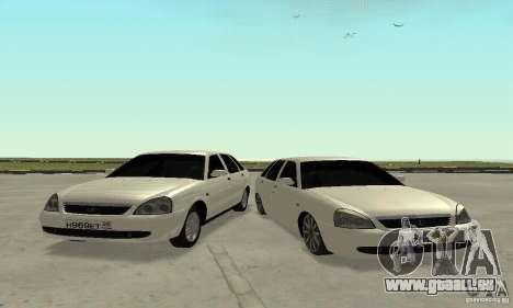 Lada Priora Hatchback pour GTA San Andreas vue de côté