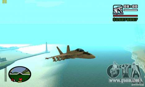 F-18 Super Hornet für GTA San Andreas rechten Ansicht