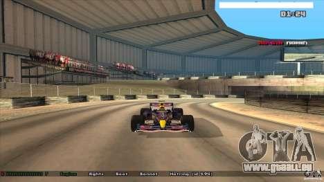 Ferrari F1 RedBull pour GTA San Andreas sur la vue arrière gauche