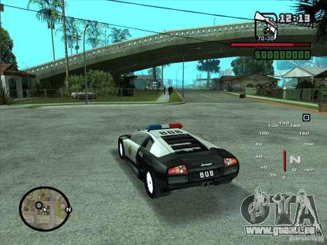 Lamborghini Murcielago Police für GTA San Andreas linke Ansicht