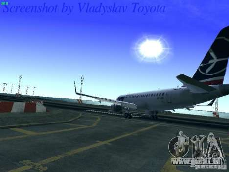 Embraer ERJ 190 LOT Polish Airlines pour GTA San Andreas vue de côté