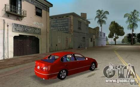 Lexus GS430 pour une vue GTA Vice City de la droite