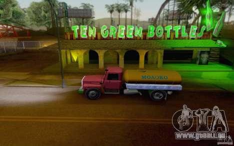 3309 GAZ citerne de lait pour GTA San Andreas sur la vue arrière gauche