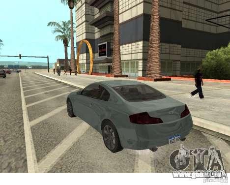 Infiniti G35 Coupe pour GTA San Andreas laissé vue