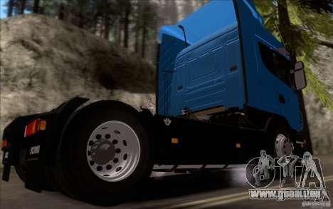 Scania R500 pour GTA San Andreas sur la vue arrière gauche