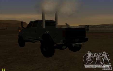 GMC Topkick Ironhide TF3 pour GTA San Andreas vue intérieure