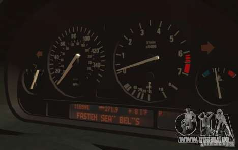BMW 750i E38 1998 M-Packet pour GTA 4 est une vue de l'intérieur