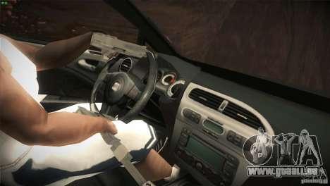 Seat Leon Cupra für GTA San Andreas Unteransicht