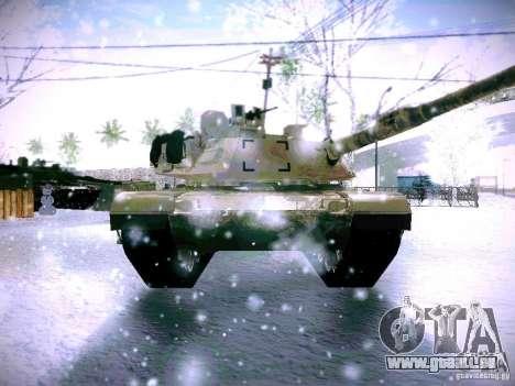 M1A2 Abrams von Battlefield 3 für GTA San Andreas Rückansicht
