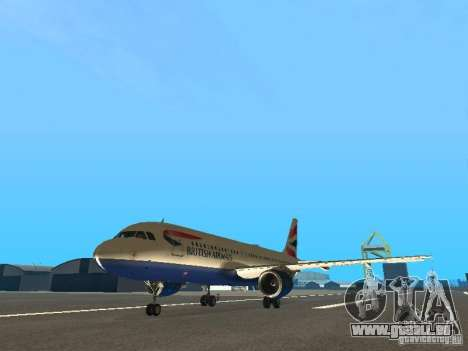 Airbus A320 British Airways für GTA San Andreas
