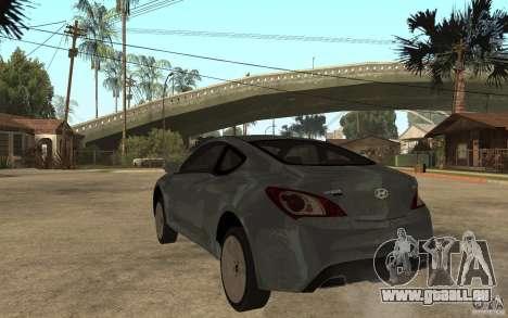 Hyundai Genesis Coupe 2010 pour GTA San Andreas sur la vue arrière gauche
