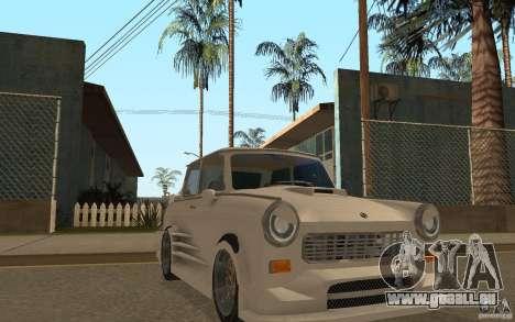Trabant 601S Tuning pour GTA San Andreas vue arrière