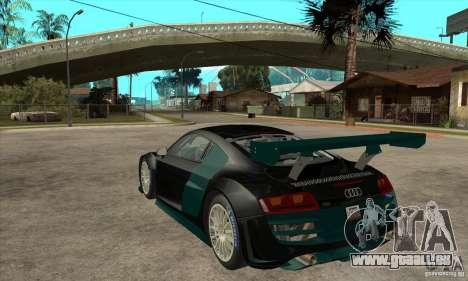 Audi R8 LMS für GTA San Andreas zurück linke Ansicht