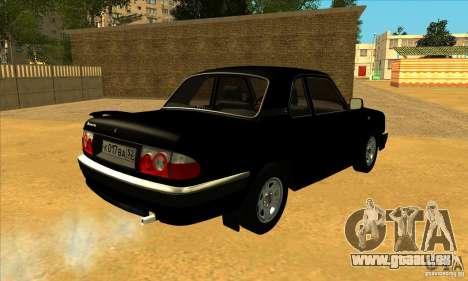 Volga GAZ 3110 berline pour GTA San Andreas sur la vue arrière gauche