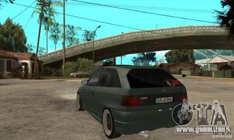 Opel Astra GSI 1993 Custom für GTA San Andreas zurück linke Ansicht