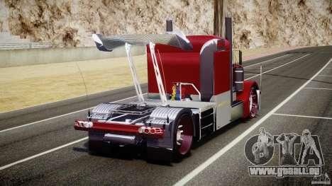 Peterbilt Sport Truck Custom pour GTA 4 Vue arrière de la gauche