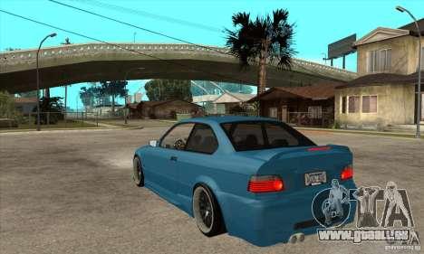 BMW M3 HAMMAN pour GTA San Andreas sur la vue arrière gauche