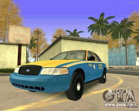 Ford Crown Victoria 2003 Taxi Cab pour GTA San Andreas vue arrière