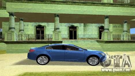 Buick Regal pour une vue GTA Vice City de l'intérieur