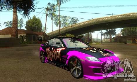 Mazda RX8 Slipknot Style für GTA San Andreas Rückansicht