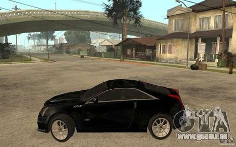 Cadillac CTS V Coupe 2011 pour GTA San Andreas laissé vue