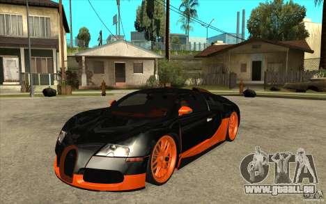 Bugatti Veyron Super Sport 2011 für GTA San Andreas rechten Ansicht