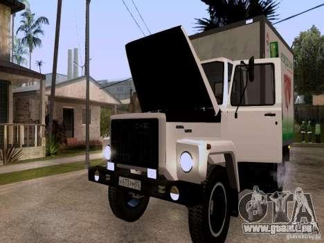 GAZ 3309 pour GTA San Andreas vue intérieure